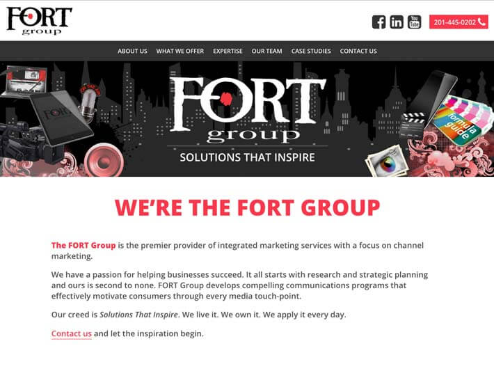 Fort Group homepage
